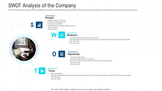 SWOT Analysis Of The Company Ppt Gallery Mockup PDF