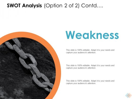 SWOT Analysis Option Contd Ppt PowerPoint Presentation Gallery Microsoft