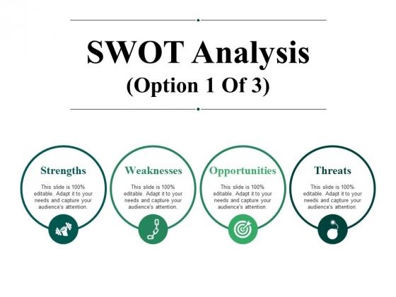 SWOT Analysis Template 1 Ppt PowerPoint Presentation Summary Ideas