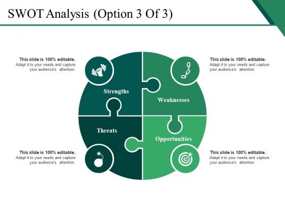 SWOT Analysis Template 3 Ppt PowerPoint Presentation Slides Topics