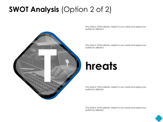 SWOT Analysis Threats Ppt PowerPoint Presentation Gallery Clipart Images