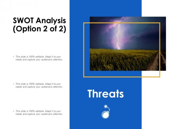 SWOT Analysis Threats Ppt Powerpoint Presentation Ideas Example