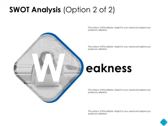 SWOT Analysis Weakness Ppt PowerPoint Presentation Gallery Graphics