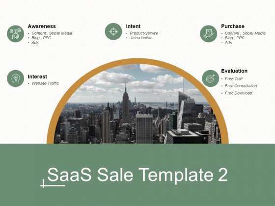 Saas Sale Template Marketing Ppt Powerpoint Presentation Gallery Sample