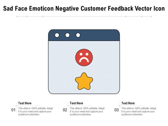 Sad_Face_Emoticon_Negative_Customer_Feedback_Vector_Icon_Ppt_PowerPoint_Presentation_Gallery_Graphics_Download_PDF_Slide_1