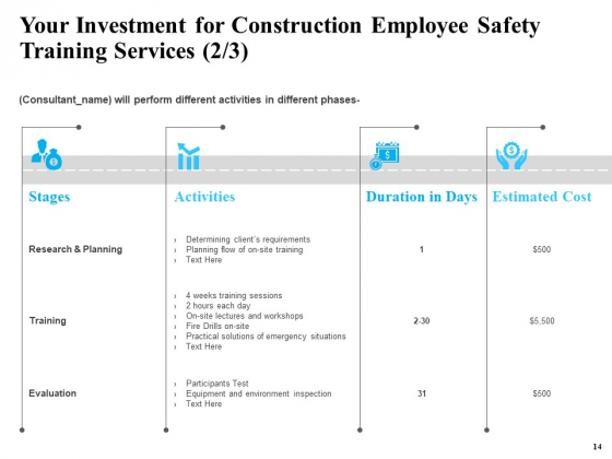Safety_And_Health_Training_Plan_For_Construction_Employees_Ppt_PowerPoint_Presentation_Complete_Deck_With_Slides_Slide_14