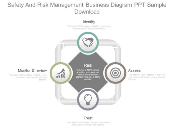 Safety And Risk Management Business Diagram Ppt Sample Download