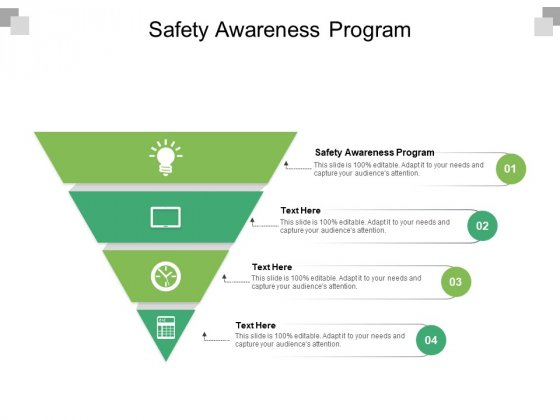 Safety Awareness Program Ppt PowerPoint Presentation Summary Template Cpb Pdf