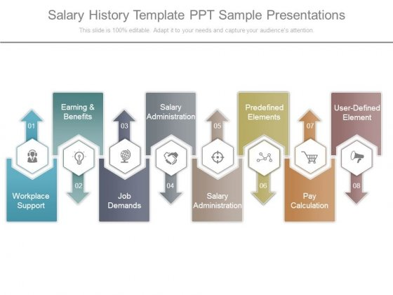 Salary History Template Ppt Sample Presentations - Powerpoint