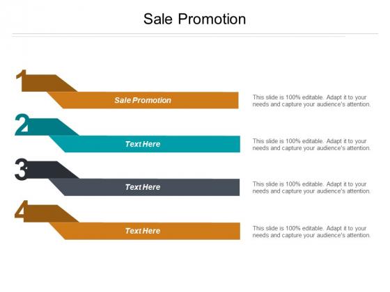 Sale Promotion Ppt PowerPoint Presentation Ideas Show