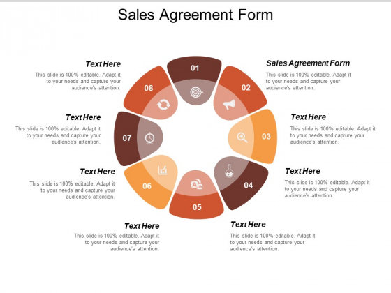 Sales Agreement Form Ppt PowerPoint Presentation Layouts Summary