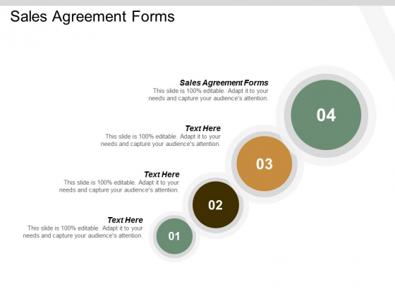 Sales Agreement Forms Ppt Powerpoint Presentation Pictures Design Inspiration Cpb