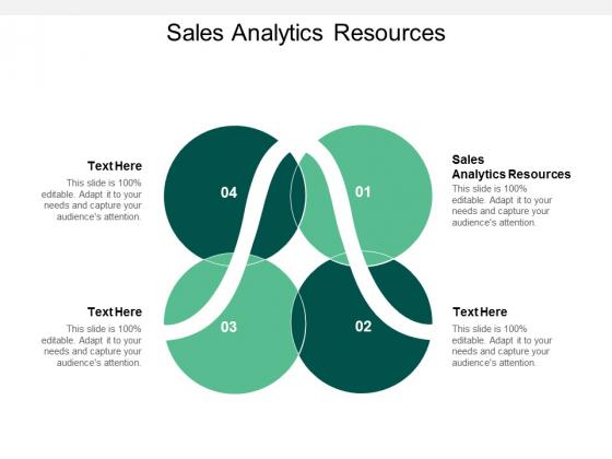 Sales Analytics Resources Ppt PowerPoint Presentation Gallery Visuals Cpb
