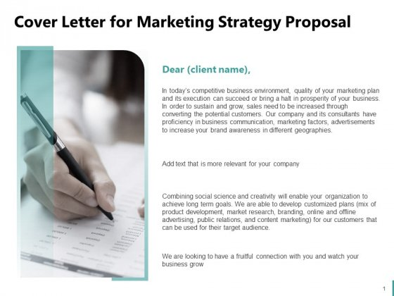 Sales And Business Development Action Plan Cover Letter For Marketing Strategy Proposal Ppt Icon Examples PDF