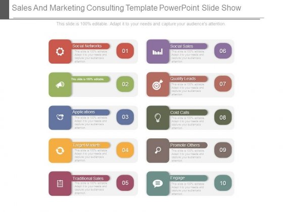 Sales And Marketing Consulting Template Powerpoint Slide Show