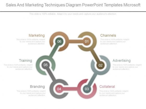 Sales And Marketing Techniques Diagram Powerpoint Templates Microsoft