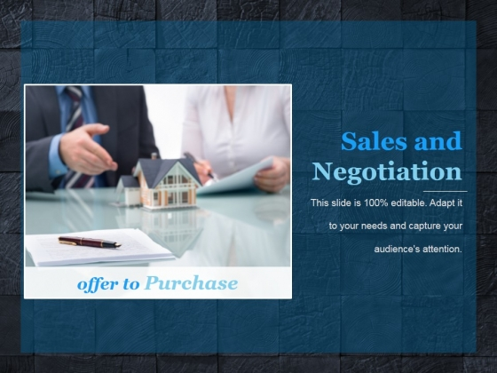 Sales And Negotiation Template 1 Ppt PowerPoint Presentation Guide