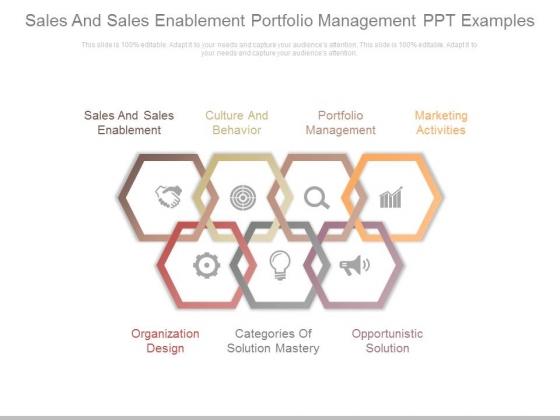 Sales And Sales Enablement Portfolio Management Ppt Examples