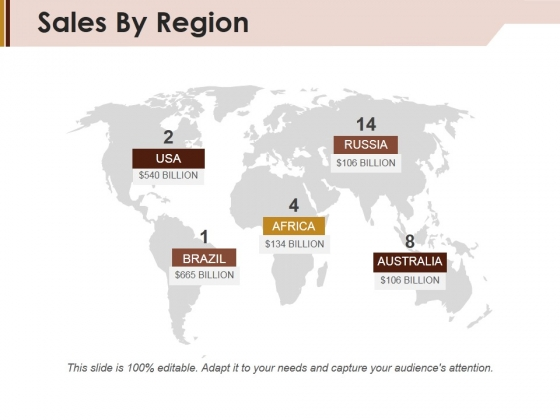 Sales By Region Ppt PowerPoint Presentation Gallery Slide Download