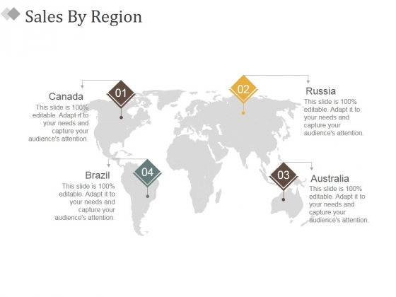 Sales By Region Ppt PowerPoint Presentation Layouts Layout