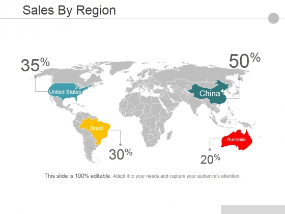 Sales By Region Ppt PowerPoint Presentation Professional Example Topics
