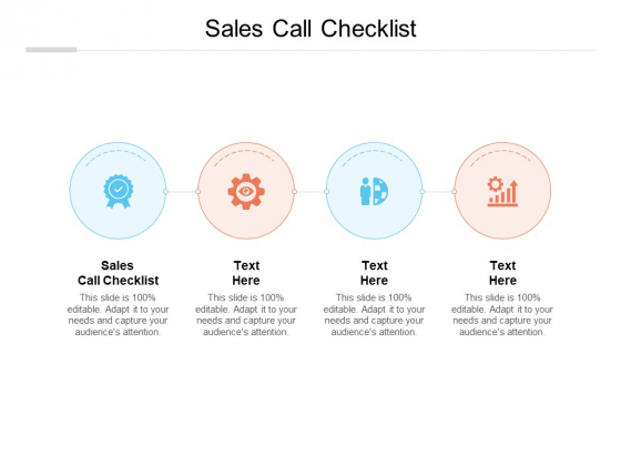 Sales Call Checklist Ppt PowerPoint Presentation Infographics Visual Aids Cpb