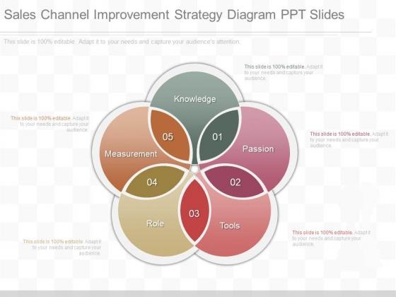 Sales Channel Improvement Strategy Diagram Ppt Slides