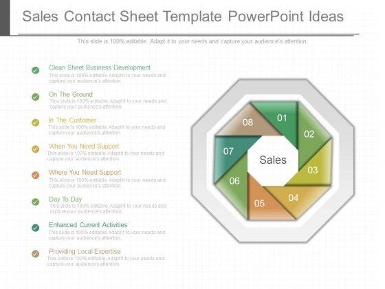 Sales Contact Sheet Template Powerpoint Ideas PowerPoint Templates