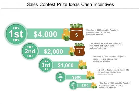 Sales Contest Prize Ideas Cash Incentives Ppt PowerPoint Presentation Styles Portfolio