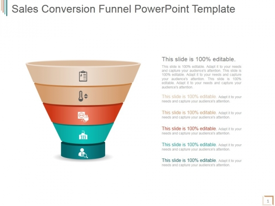 Sales Conversion Funnel Ppt PowerPoint Presentation Design Templates