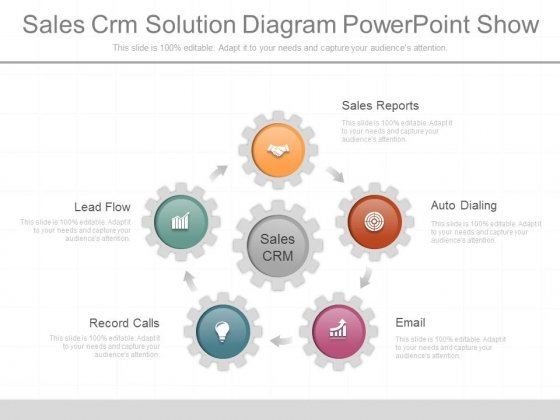 Sales Crm Solution Diagram Powerpoint Show