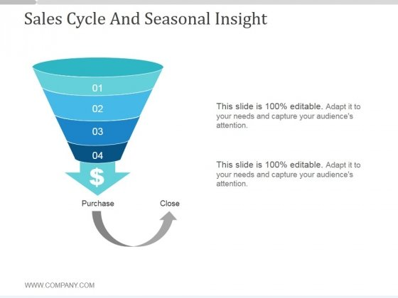 Sales Cycle And Seasonal Insight Ppt PowerPoint Presentation Guidelines