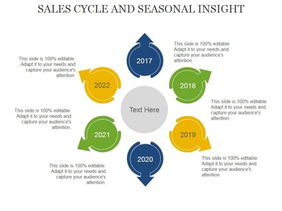 Sales Cycle And Seasonal Insight Template 1 Ppt PowerPoint Presentation Pictures Icon