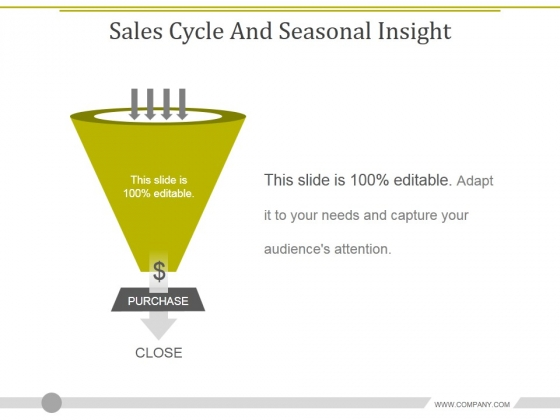 Sales Cycle And Seasonal Insight Template 2 Ppt PowerPoint Presentation Infographics Gridlines