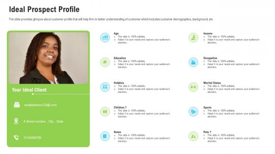 Sales Department Strategies Increase Revenues Ideal Prospect Profile Ppt Icon Shapes PDF