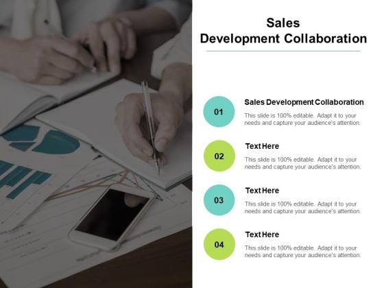 Sales Development Collaboration Ppt PowerPoint Presentation Inspiration Elements Cpb