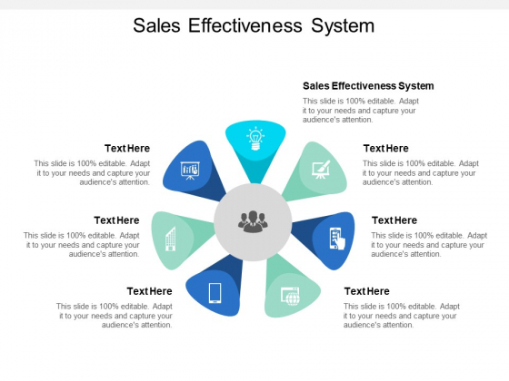 Sales Effectiveness System Ppt PowerPoint Presentation Styles Format Cpb