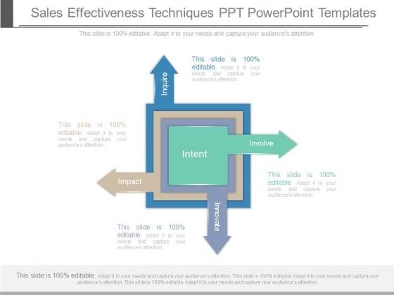Sales Effectiveness Techniques Ppt Powerpoint Templates