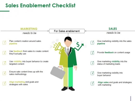 Sales Enablement Checklist Template 1 Ppt PowerPoint Presentation Outline Shapes
