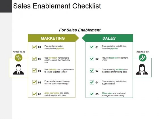 Sales Enablement Checklist Template 1 Ppt PowerPoint Presentation Slides Portfolio