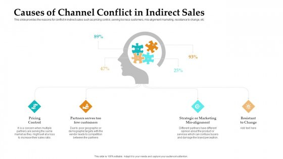 Sales Facilitation Partner Management Causes Of Channel Conflict In Indirect Sales Pictures PDF
