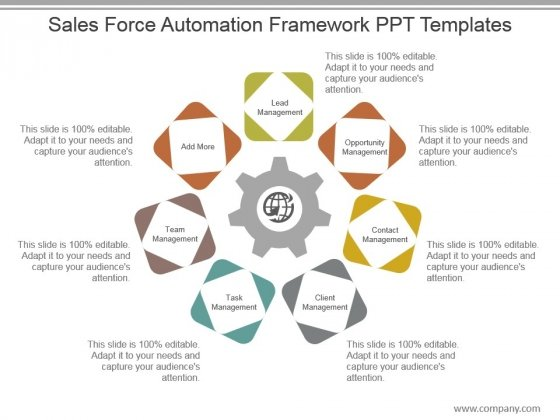 Sales Force Automation Framework Ppt Templates