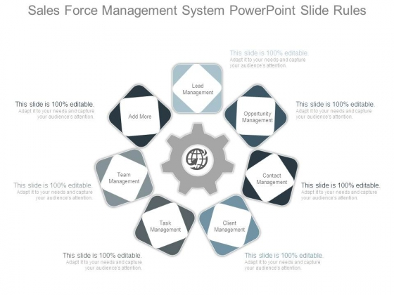Sales Force Management System Powerpoint Slide Rules
