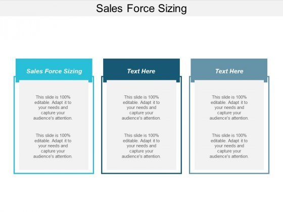 Sales Force Sizing Ppt PowerPoint Presentation Show Mockup Cpb