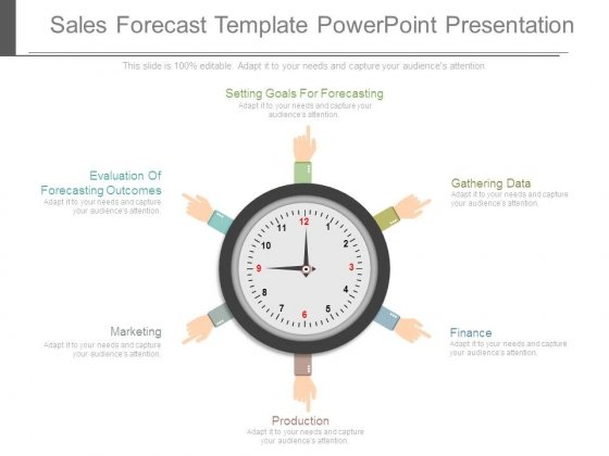 sales forecast template powerpoint presentation - powerpoint templates, Presentation templates