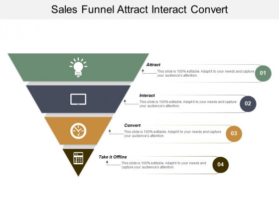 Sales Funnel Attract Interact Convert Ppt PowerPoint Presentation Pictures Structure