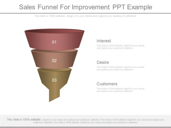 Sales Funnel For Improvement Ppt Example