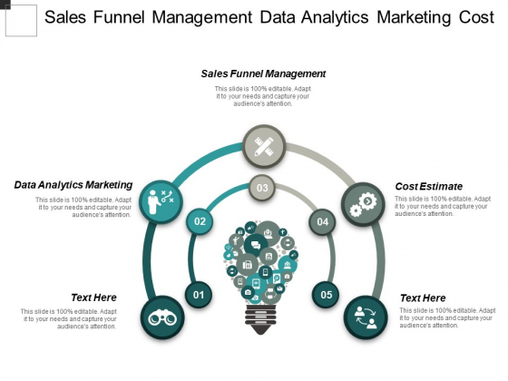 Sales Funnel Management Data Analytics Marketing Cost Estimate Ppt PowerPoint Presentation Inspiration Templates Cpb