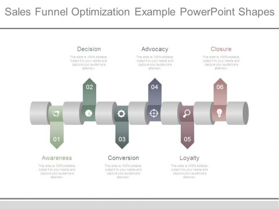 Sales Funnel Optimization Example Powerpoint Shapes