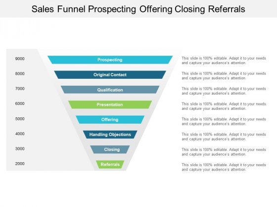 Sales_Funnel_Prospecting_Offering_Closing_Referrals_Ppt_PowerPoint_Presentation_Summary_Microsoft_Slide_1